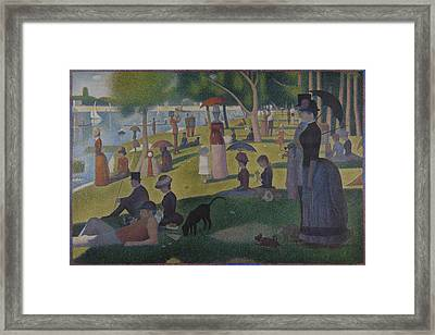 A Sunday On La Grande Jatte Framed Print by Georges Seurat