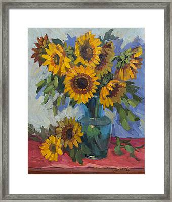 A Sunflower Day Framed Print by Diane McClary