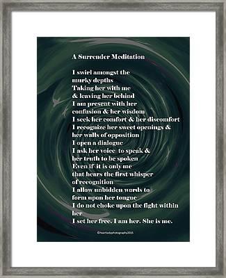 A Surrender Meditation Framed Print by Tanya Levy