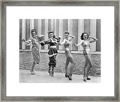 A Swimwear Fashion Show Framed Print by Underwood Archives