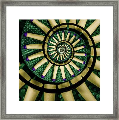 A Swirl Of Legonerf Framed Print by Randy Turnbow