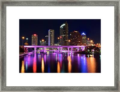 A Tampa Night Framed Print by Frozen in Time Fine Art Photography