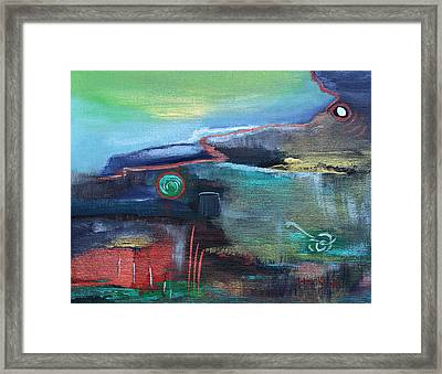 A Tear In Time Framed Print by Donna Blackhall