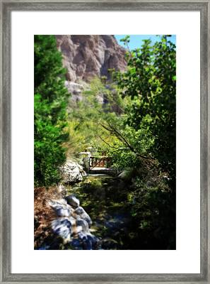 A Teeny Tiny Bridge Framed Print by Laurie Search