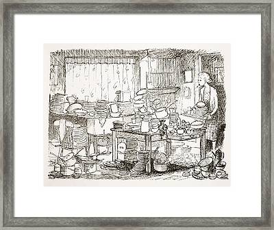 A Tendency To Leave The Washing-up Till Framed Print by Pont