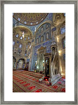 A Tile Paradise Framed Print by Leyla Ismet