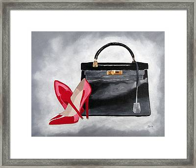 A Touch Of Class Framed Print by Rebecca Jenkins
