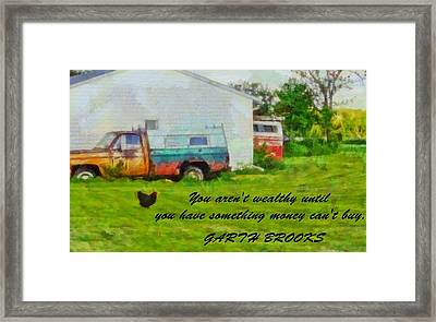 A Touch Of Country Framed Print by Dan Sproul