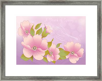 A Touch Of Spring Framed Print by Gayle Odsather