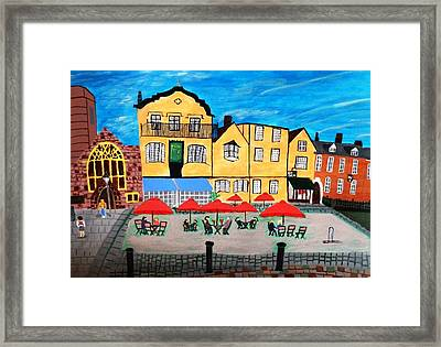 A Town Square On A Clear Day Framed Print by Magdalena Frohnsdorff