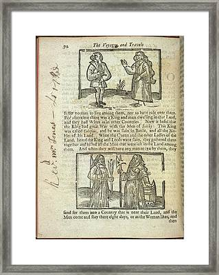 A Tribe Framed Print by British Library
