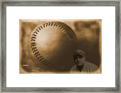A Tribute To Babe Ruth And Baseball Framed Print by Dan Sproul