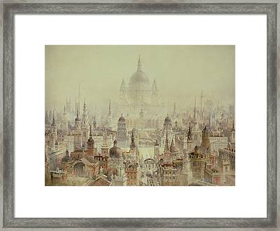 A Tribute To Sir Christopher Wren Framed Print by Charles Robert Cockerell