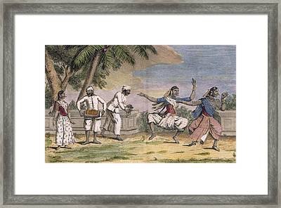 A Troupe Of Bayaderes, Or Indian Framed Print by Pierre Sonnerat