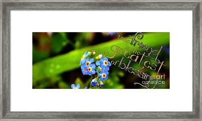 A True Friend Framed Print by Talitha Dandrea