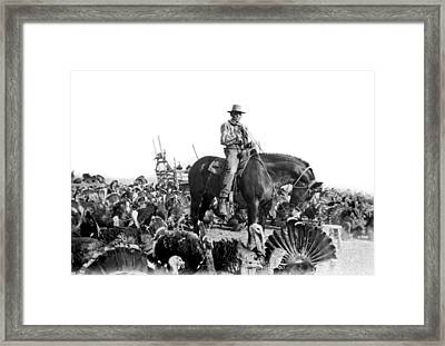 A Turkey Rancher Framed Print by Underwood Archives