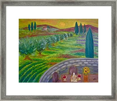 A Tuscan Balcony Framed Print by Victoria Lakes