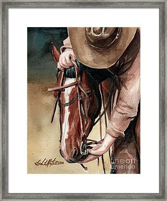 A Useful Horse Framed Print by Linda L Martin