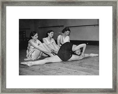 A Very Flexible Woman Framed Print by Underwood Archives
