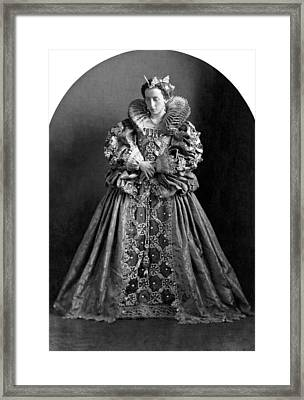 A Very Regal Woman Framed Print by Underwood Archives