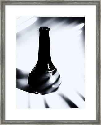 A Vessel 3 ...black And White Framed Print by Tom Druin