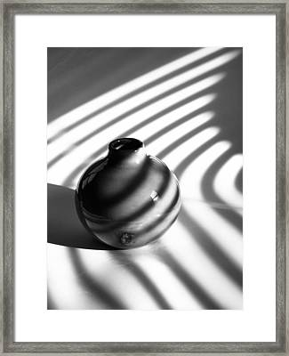 A Vessel...black And White Framed Print by Tom Druin