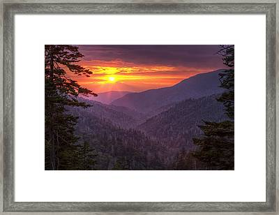A View At Sunset Framed Print by Andrew Soundarajan