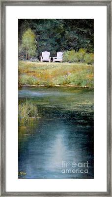A View For Two  Framed Print by Lori  McNee