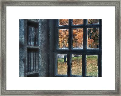 A View From The Library Framed Print by Susan Candelario