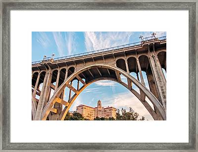 View From Under Framed Print by Aron Kearney