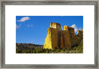 A View In The Grand Escalante Staircase Framed Print by Jeff Swan