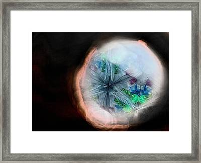 A View Into A Different Dimension Framed Print by Sandra Pena de Ortiz