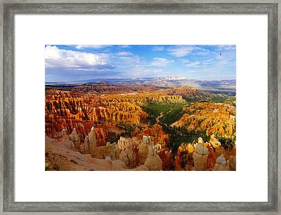 A View Into Bryce Framed Print by Jeff Swan