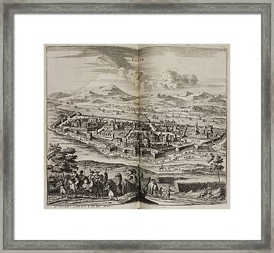 A View Of Baghdad In The 17th Century Framed Print by British Library