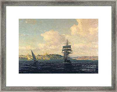 A View Of Constantinople Framed Print by Michael Zeno Diemer