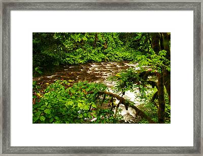 A View Of Eagle Creek Framed Print by Jeff Swan