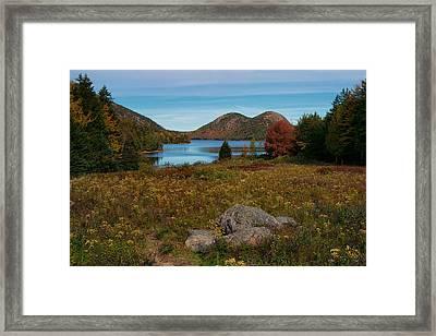 A View Of Jordan Pond Framed Print by Darylann Leonard Photography