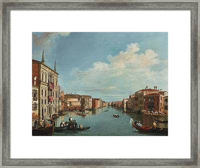 A View Of The Grand Canal With A Regatta Framed Print by Celestial Images