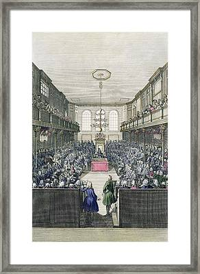 A View Of The House Of Commons Framed Print by English School