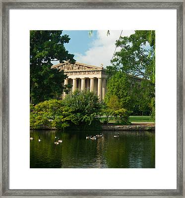 A View Of The Parthenon 17 Framed Print by Douglas Barnett