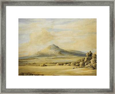 A View Of The Wrekin In Shropshire Going From Wenlock To Shrewsbury Framed Print by Celestial Images
