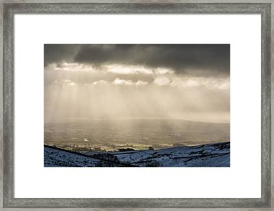 A View Over Ingleton. Framed Print by Daniel Kay