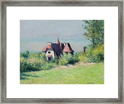 A Villa At Trouville Framed Print by Gustave Caillebotte