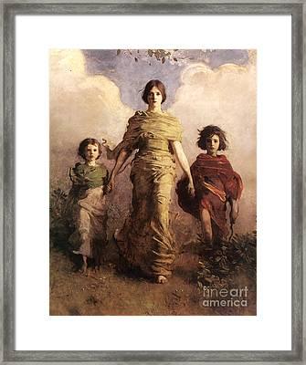 A Virgin  - Winged Victory Of Samothrace Framed Print by Abbott Handerson Thayer
