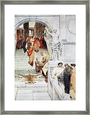 A Visit Of Agrippa To Augustus Framed Print by Sir Lawrence Alma-Tadema