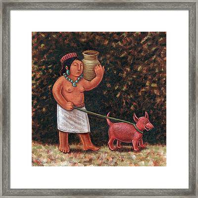 A Walk In Old Colima Framed Print by Holly Wood