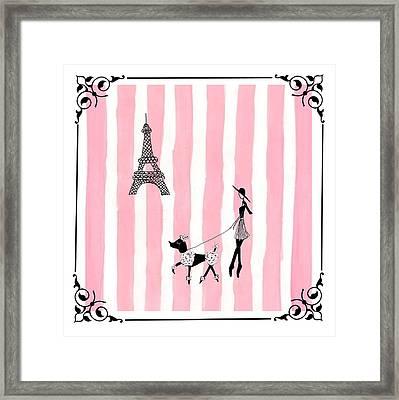 A Walk In Paris Framed Print by Stephanie Grant