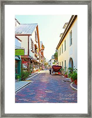 A Walk In St Augustine Framed Print by Michelle Wiarda