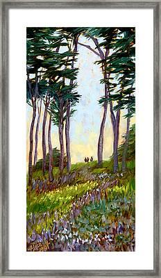 A Walk In The Park Framed Print by Alice Leggett
