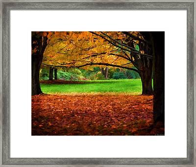 A Walk In The Park Framed Print by Jordan Blackstone
